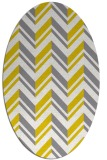 rug #903241 | oval yellow graphic rug