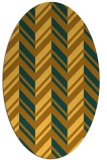rug #903245 | oval light-orange graphic rug