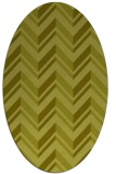 rug #903253 | oval light-green graphic rug