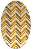 rug #903269 | oval light-orange stripes rug