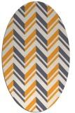 rug #903281 | oval light-orange stripes rug