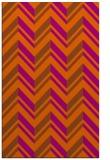 rug #903557 |  red-orange stripes rug