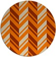 rug #903645   round orange stripes rug