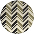 rug #903669 | round black stripes rug