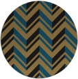 rug #903673 | round mid-brown stripes rug