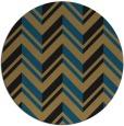 rug #903673 | round black graphic rug