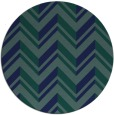 rug #903685 | round blue-green stripes rug