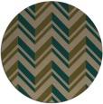 rug #903761 | round mid-brown stripes rug