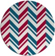 rug #903765 | round red graphic rug