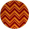 rug #903845 | round orange rug