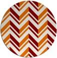 rug #903849 | round orange graphic rug