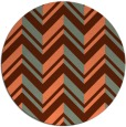 rug #903857 | round red-orange popular rug