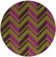 rug #903881 | round green stripes rug