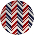rug #903893   round red stripes rug
