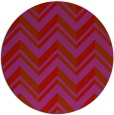 rug #903905 | round red stripes rug