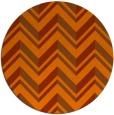 rug #903909 | round red-orange stripes rug