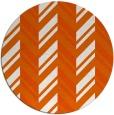 rug #903921   round red-orange stripes rug