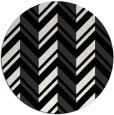 rug #903925 | round black stripes rug