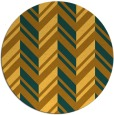 rug #903965 | round light-orange stripes rug