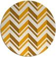 rug #903989 | round light-orange stripes rug