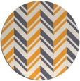 rug #904001 | round light-orange stripes rug