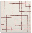 rug #904621 | square red geometry rug