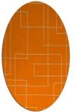 rug #904725 | oval orange geometry rug