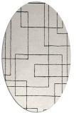 rug #904729 | oval white geometry rug