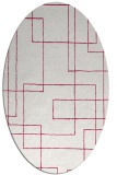 rug #904845 | oval red stripes rug