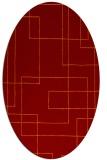 rug #904925 | oval red-orange stripes rug