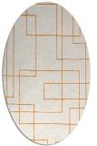 rug #904929   oval orange geometry rug