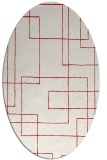rug #904973 | oval red stripes rug
