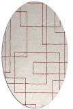 rug #904983 | oval stripes rug