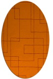 rug #904989 | oval red-orange stripes rug