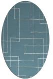 rug #905021 | oval white stripes rug