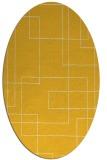 rug #905029   oval yellow rug