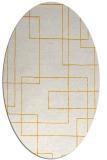 rug #905069 | oval light-orange stripes rug