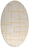 rug #905081 | oval light-orange stripes rug