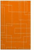 rug #905085 |  orange geometry rug