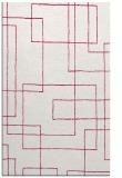 rug #905205 |  red geometry rug