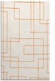 rug #905289 |  orange geometry rug