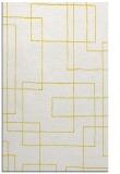 rug #905401 |  yellow geometry rug
