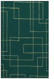 rug #905409 |  blue-green geometry rug