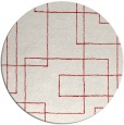 rug #905693 | round red rug