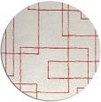 rug #905693 | round red stripes rug
