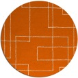 rug #905721 | round red-orange stripes rug