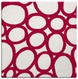 rug #906285 | square red retro rug