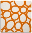 rug #906369 | square orange circles rug