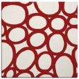 rug #906421 | square red circles rug