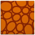 rug #906429 | square red-orange circles rug